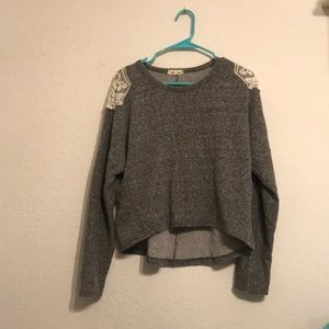 Anthropologie Sweatshirt With Lace Back
